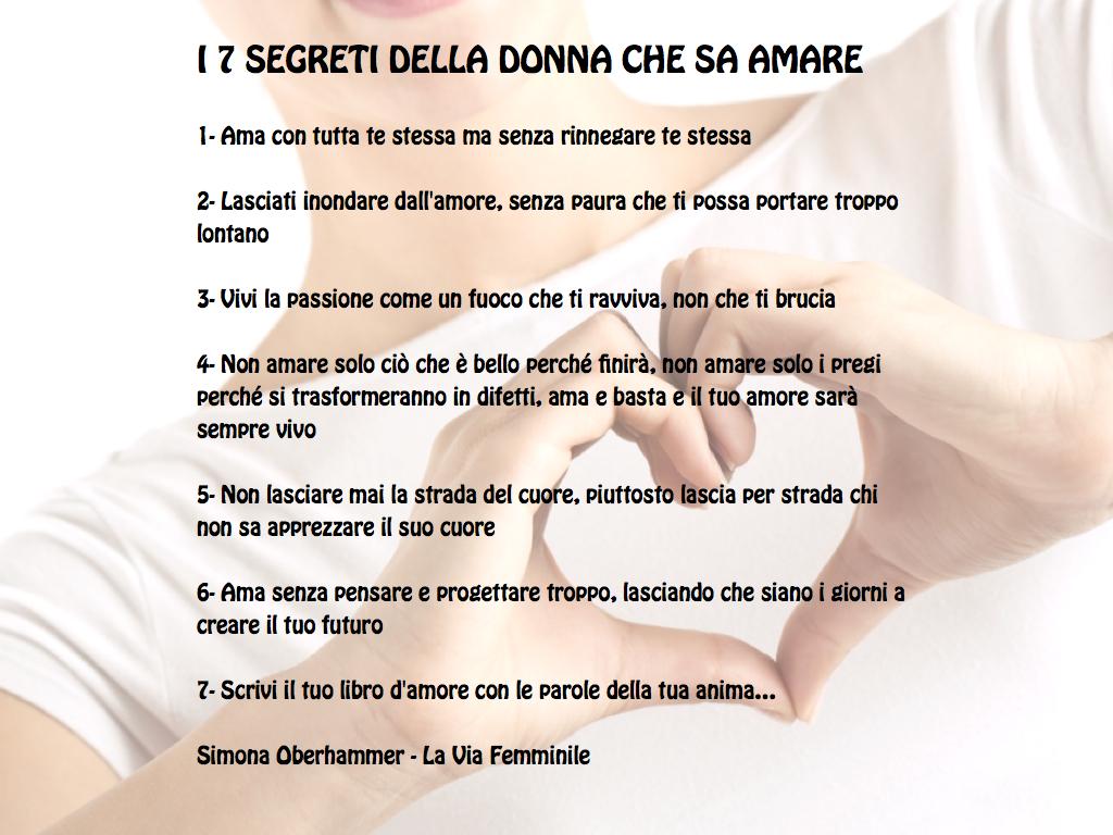 I 7 segreti della donna che sa amare - Simona Oberhammer