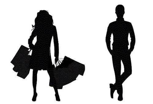 Profilo uomo e donna silhouette