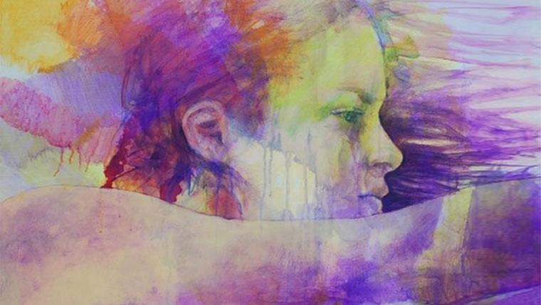 Dipinto di una donna irrequieta
