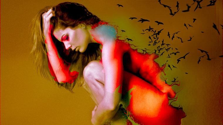 donna ferita dall'amore