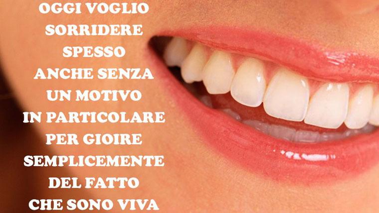 Il sorriso di una donna fa bene