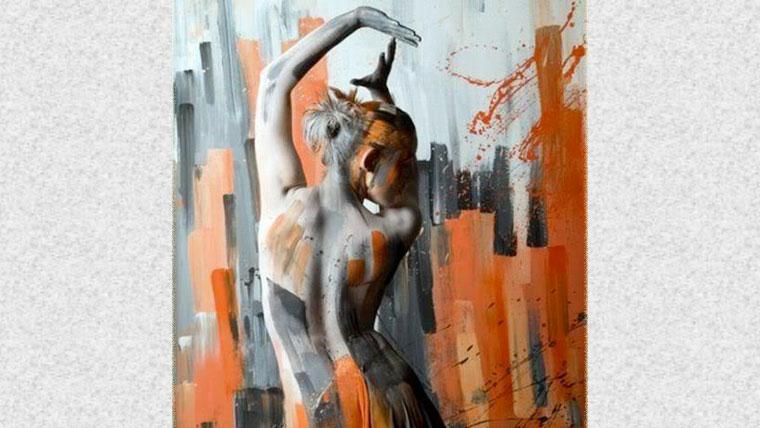 Corpo di donna dipinto