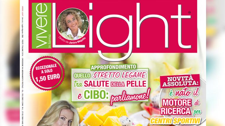 Copertina articolo Pesche rivista Vivere Light