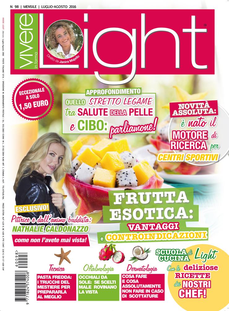 Copertina rivista Vivere Light articolo sulle pesche