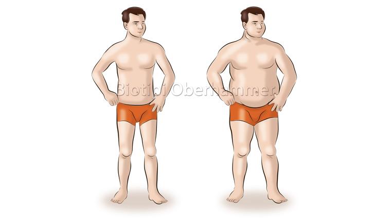 Biotipo terra uomo normopeso e sovrappeso